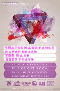 Show Preview: Shapes Have Fangs @ Ghost Room (2/10)
