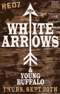 Austin Town Hall Presents: White Arrows @ Red 7 (9.20)