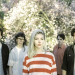 Alvvays. press photo. red. Gavin Keen